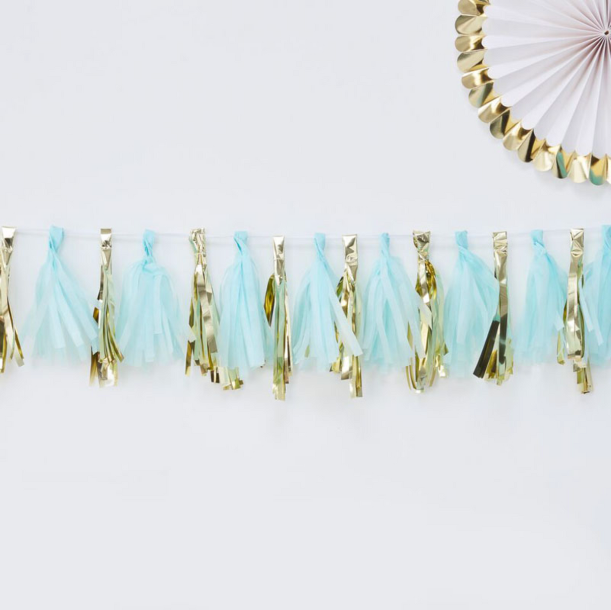 Oh Baby! – Tassel Garland (Blue and Gold)