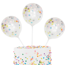 Load image into Gallery viewer, Mini Confetti Balloon Cake Topper Kit