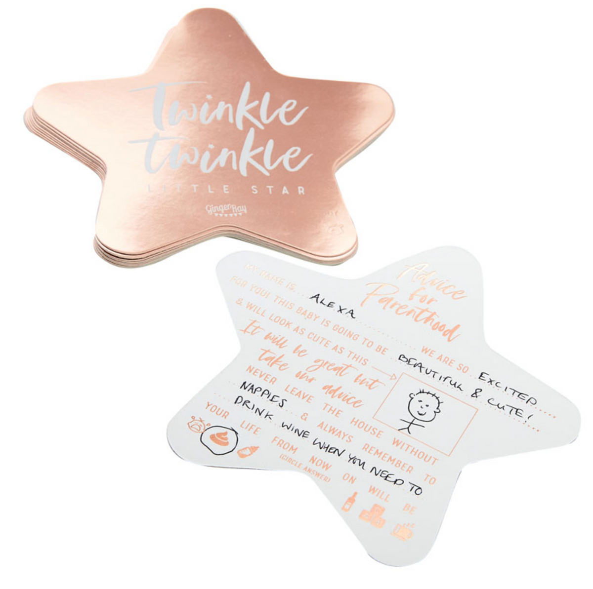 Twinkle Twinkle Baby Shower - Advice Cards