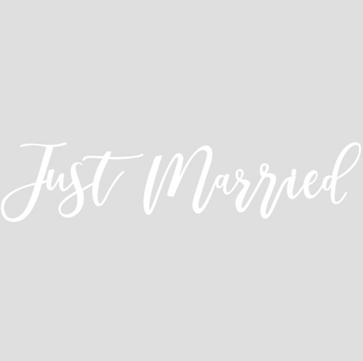 "Gold Inspiration Wedding - ""Just Married"" Car Sticker"