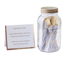 Load image into Gallery viewer, Gold Wedding Inspiration - Date Ideas Jar