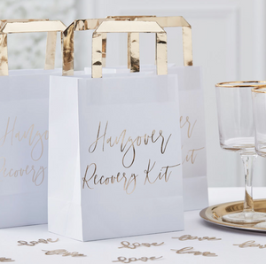 "Gold Inspiration Wedding - ""Hangover Recovery Kit"" Bags"