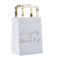 "Load image into Gallery viewer, Gold Inspiration Wedding - ""Hangover Recovery Kit"" Bags"