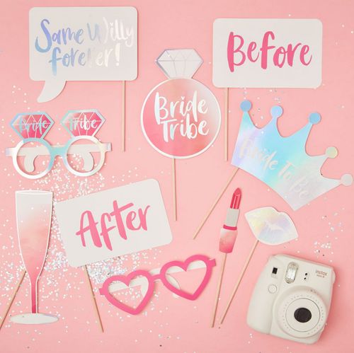 Bride Tribe - Hen Party Photo Booth Props Pack