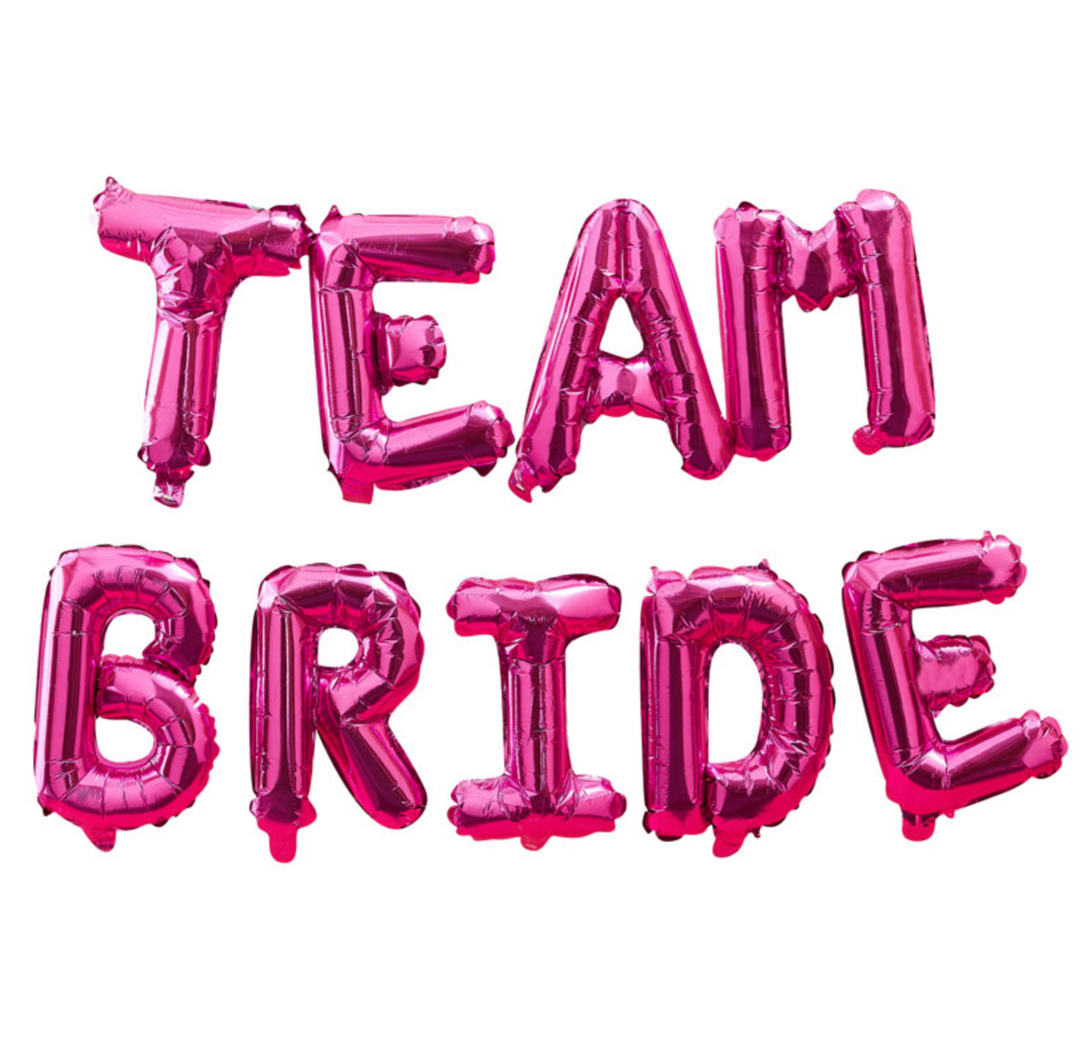 "Bride Tribe - Hot Pink ""Team Bride"" Hen Party Balloon Bunting"