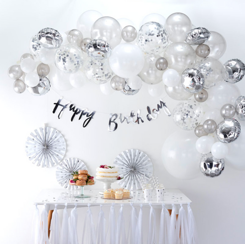 Balloon Arch Kit - Silver