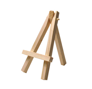 Mini Wooden Easels - Natural Wood (3 pack)
