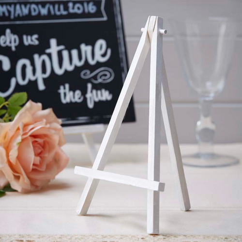 Mini Wooden Easels - White (3 pack)