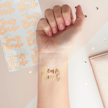 Load image into Gallery viewer, Team Bride - Hen Party Temporary Tattoos