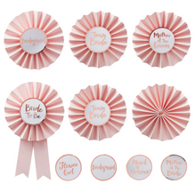 Load image into Gallery viewer, Team Bride - Bridal Party Badges