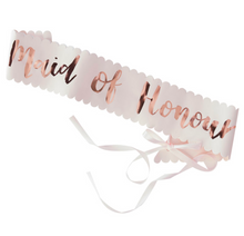 "Load image into Gallery viewer, Team Bride - ""Maid of Honour"" Sash"
