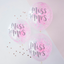 "Load image into Gallery viewer, Team Bride - ""Miss to Mrs"" Confetti Balloons"