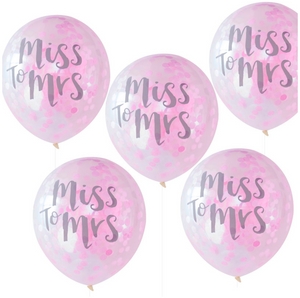 "Team Bride - ""Miss to Mrs"" Confetti Balloons"