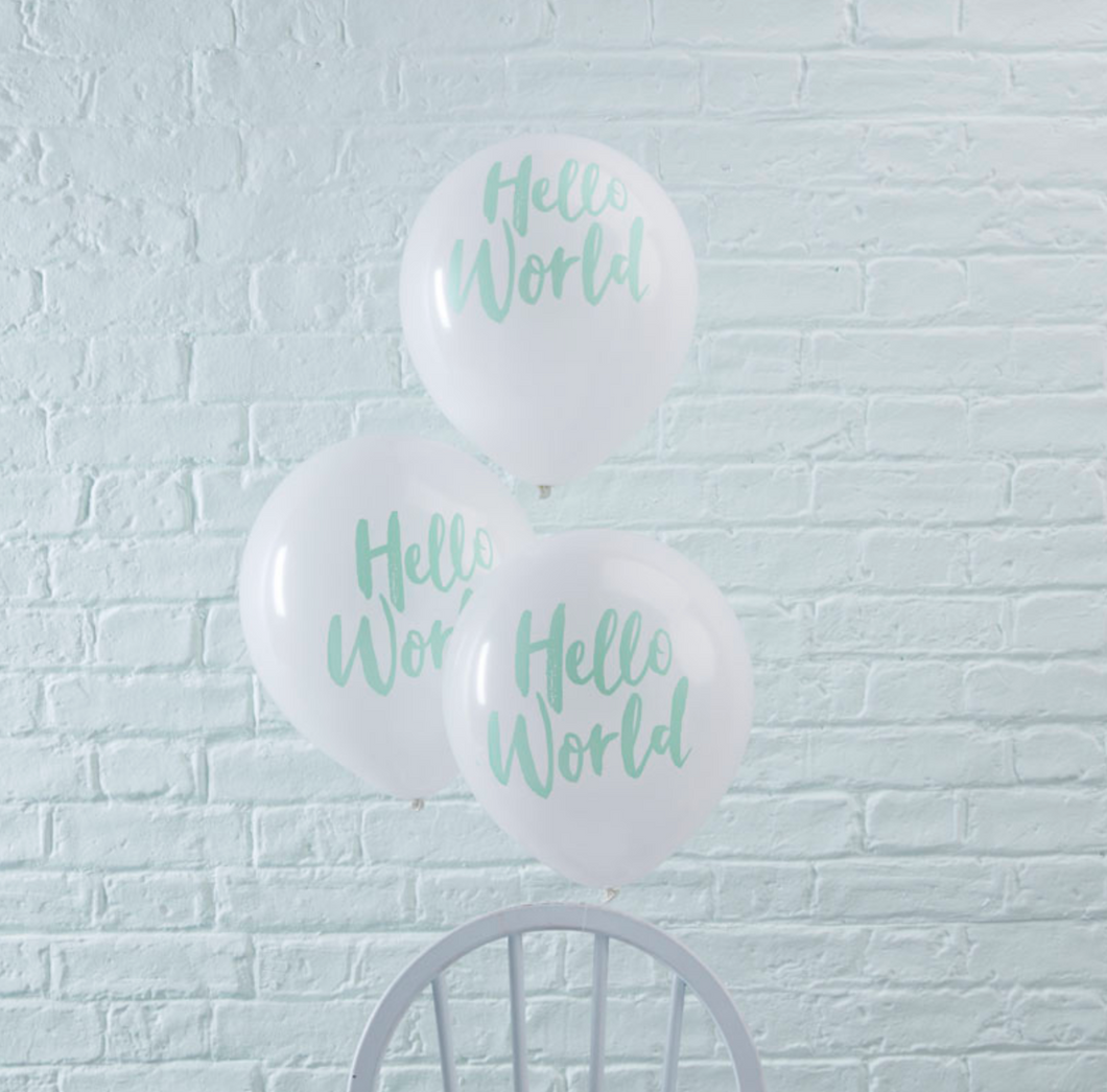 Hello World Baby Shower - Balloons