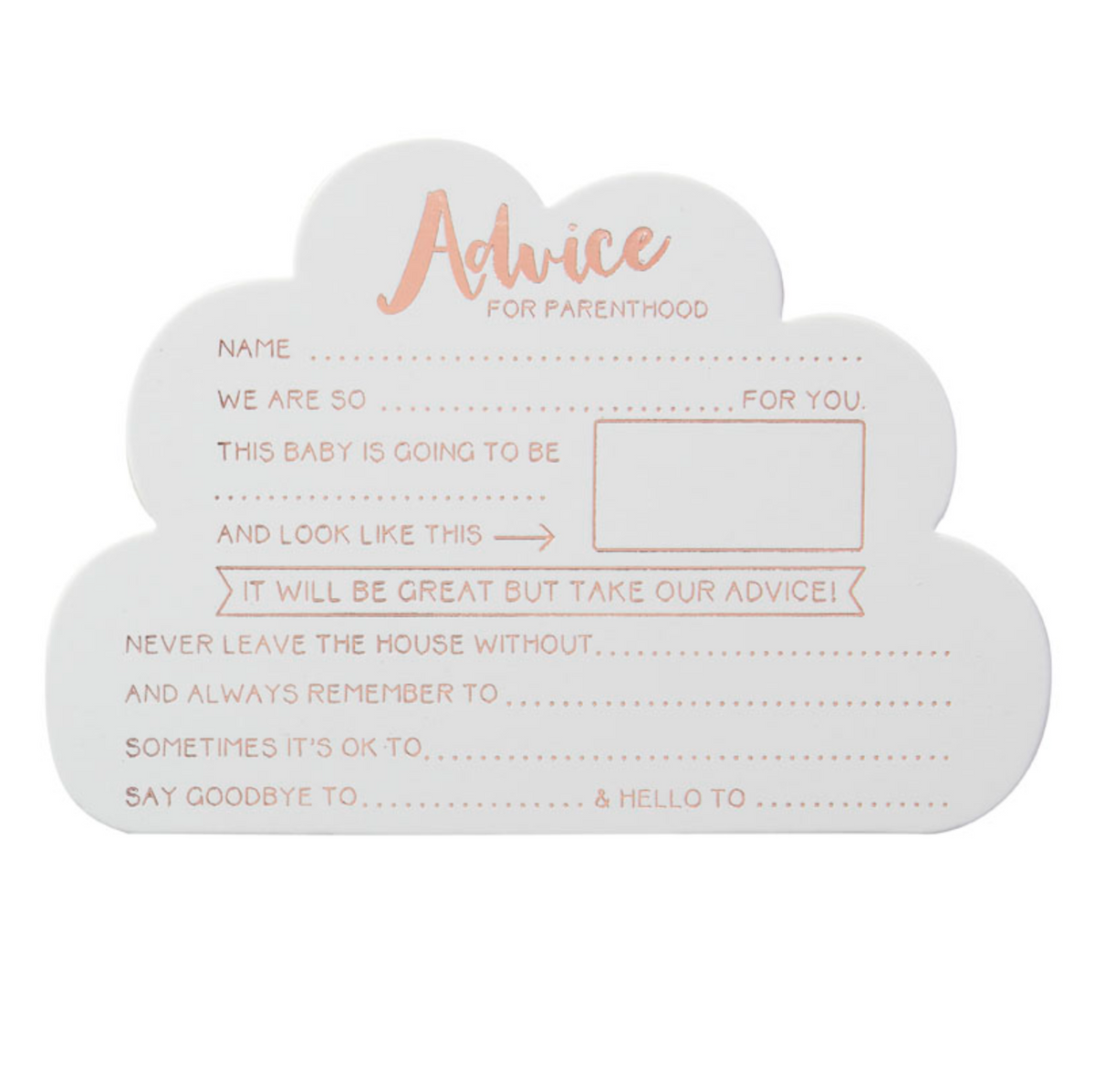 Hello World Baby Shower - Advice Cards