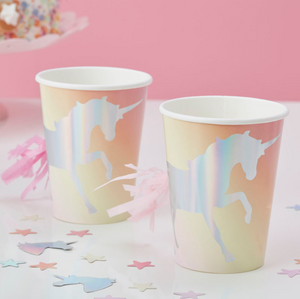 Make a Wish Unicorn Party - Iridescent Shimmer Cup