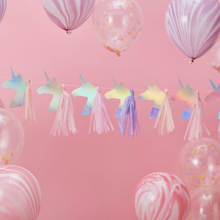 Load image into Gallery viewer, Make a Wish Unicorn Party - Tassel Garland