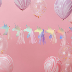 Make a Wish Unicorn Party - Tassel Garland
