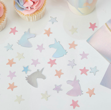 Load image into Gallery viewer, Make a Wish Unicorn Party - Table Confetti