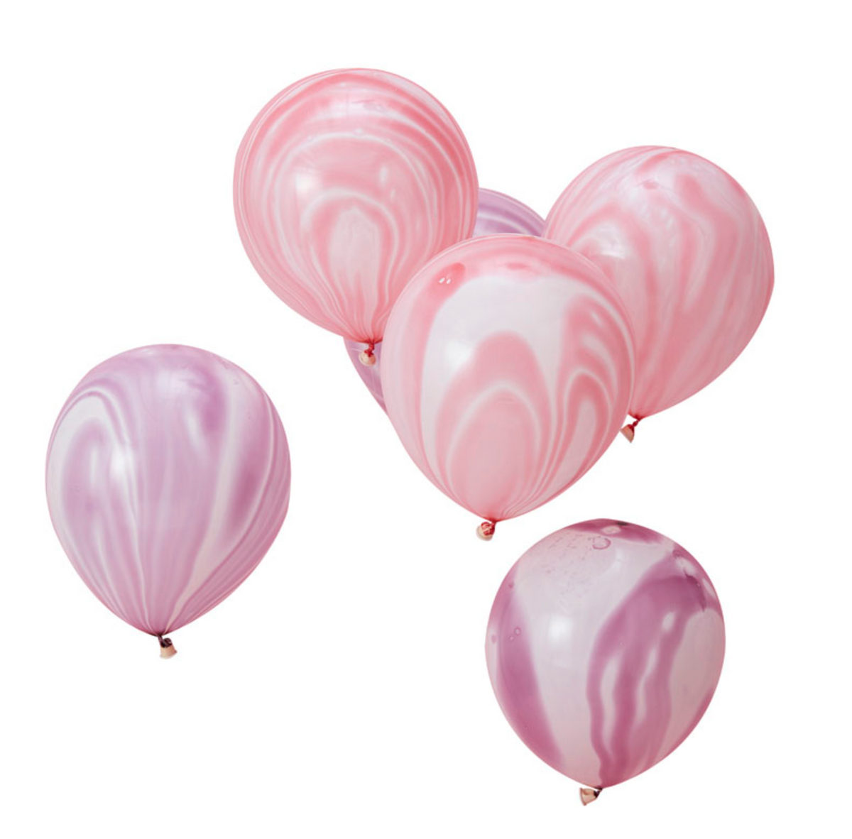 Make a Wish Unicorn Party - Pink and Purple Marble Balloons (10 pk)