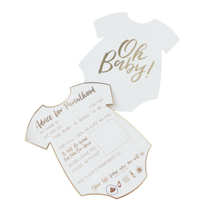 Oh Baby! - Baby Shower Advice Cards