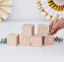 Load image into Gallery viewer, Oh Baby! - Baby Blocks Guest Book