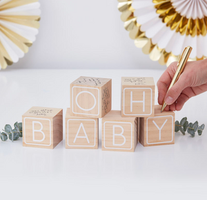 Oh Baby! - Baby Blocks Guest Book