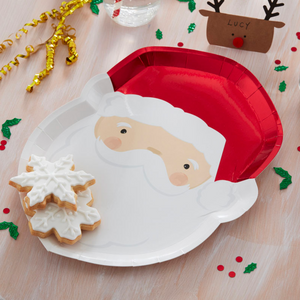 Silly Santa Paper Plates