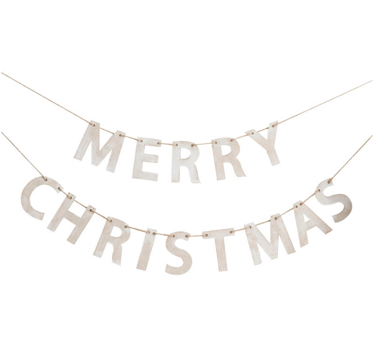 "Wooden ""Merry Christmas"" Bunting"