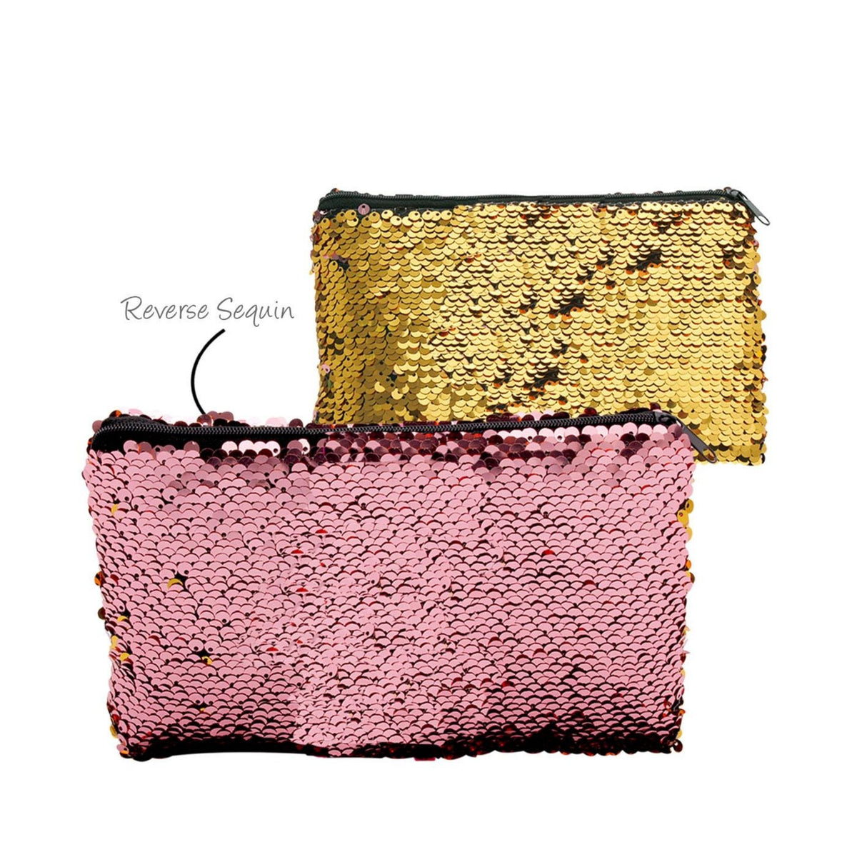 Reversible Sequin Cosmetic Bag