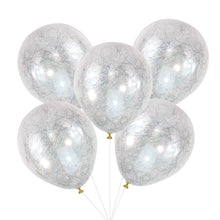 Load image into Gallery viewer, Angel Hair Confetti Balloons - Silver
