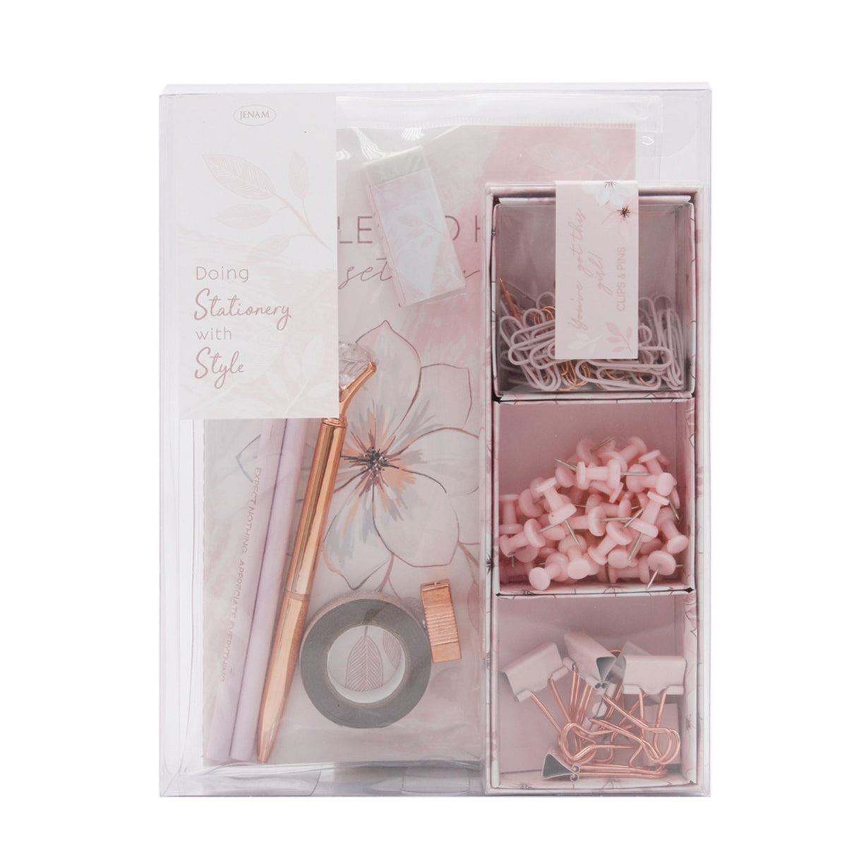 Stationery With Style – Pink and Rose Gold Stationery Set