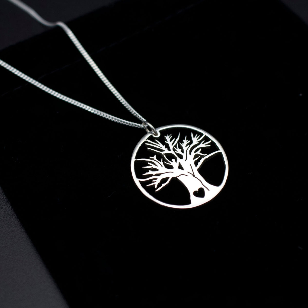 Sterling Silver African Tree of Life Pendant with Chain