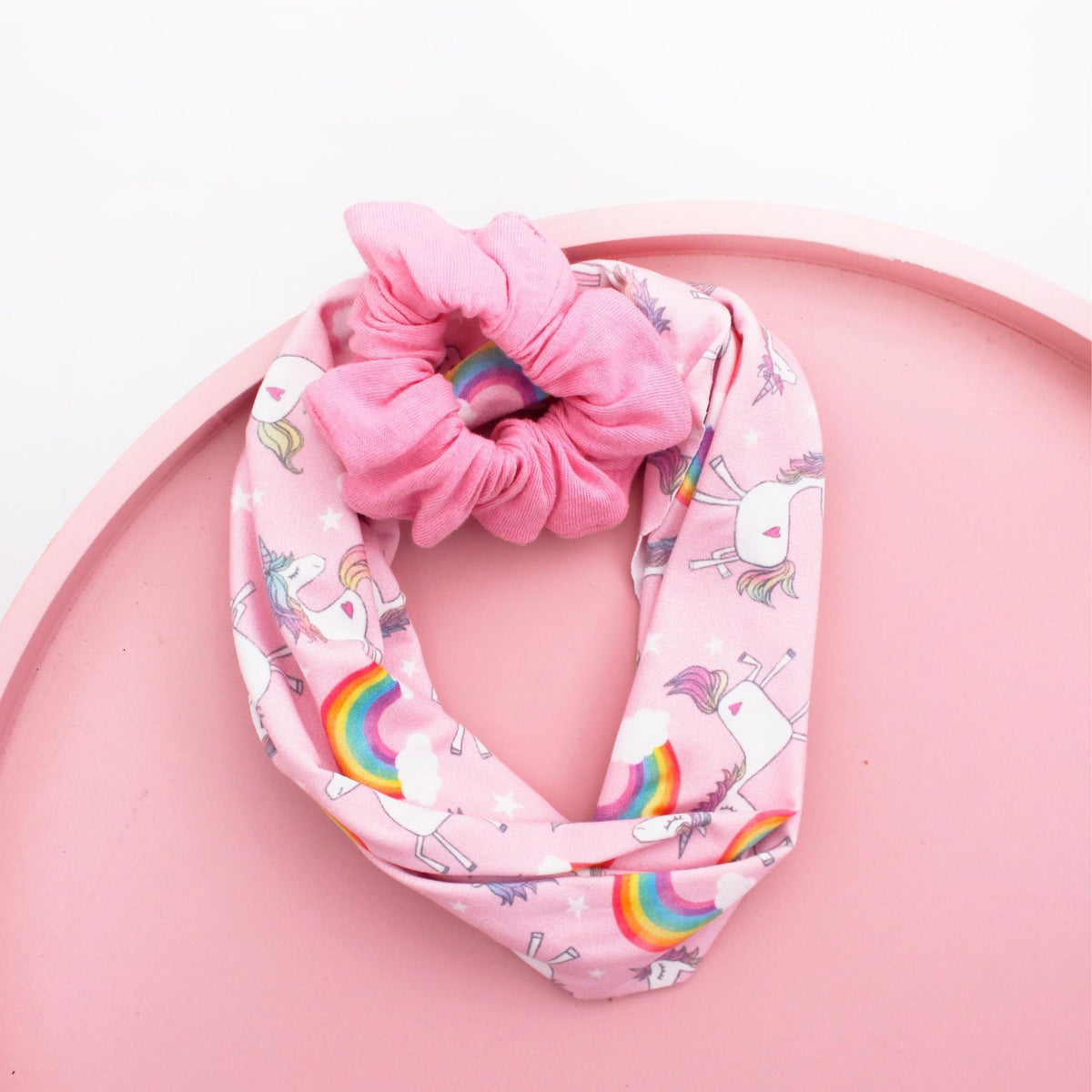 Unicorn Kids' Buff and Scrunchie Set