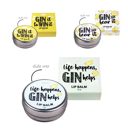 Happy Hour Gin & Tonic Lip Balm (Lemon Flavoured)