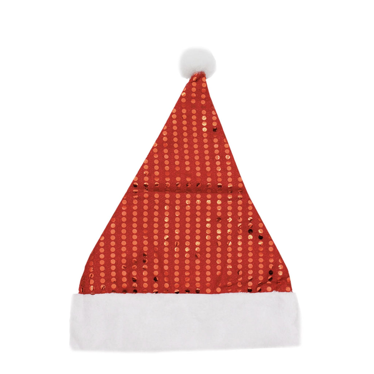 Sequined Red Christmas Hat