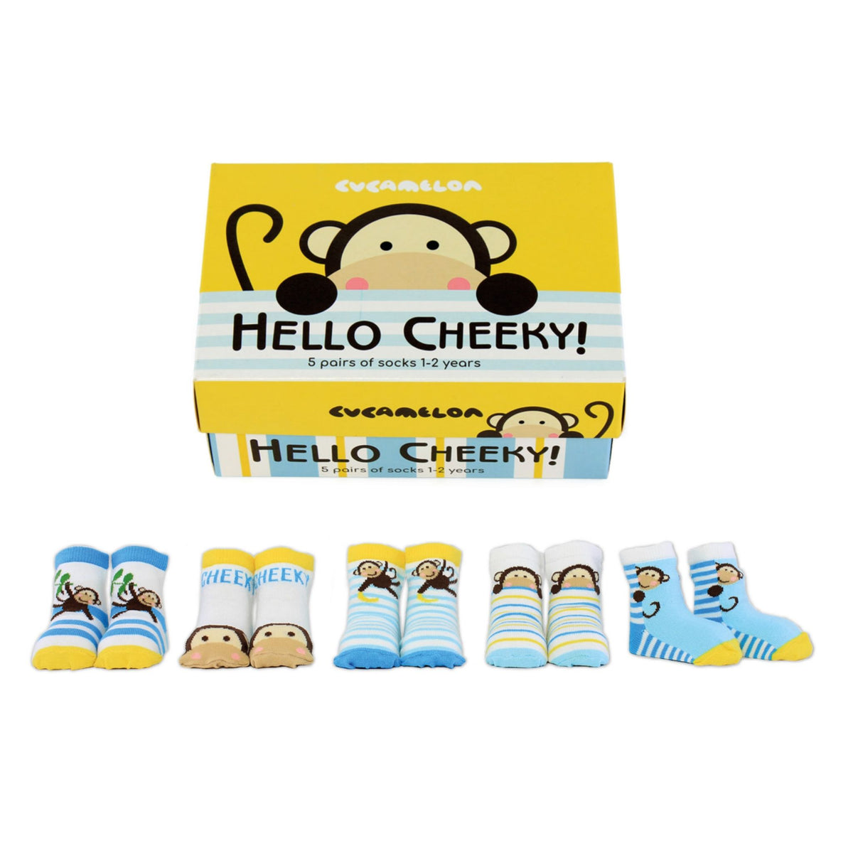 Hello Cheeky! Toddler Socks (Age 1-2 years)