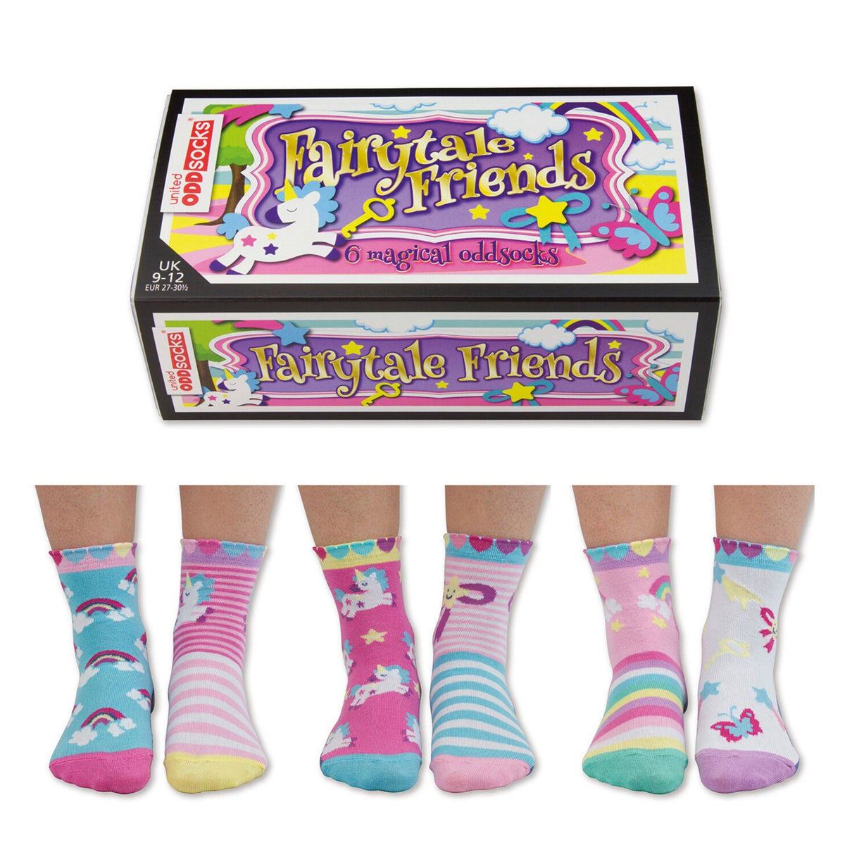 Fairytale Friends Kids' OddSocks (shoe size 9-12)