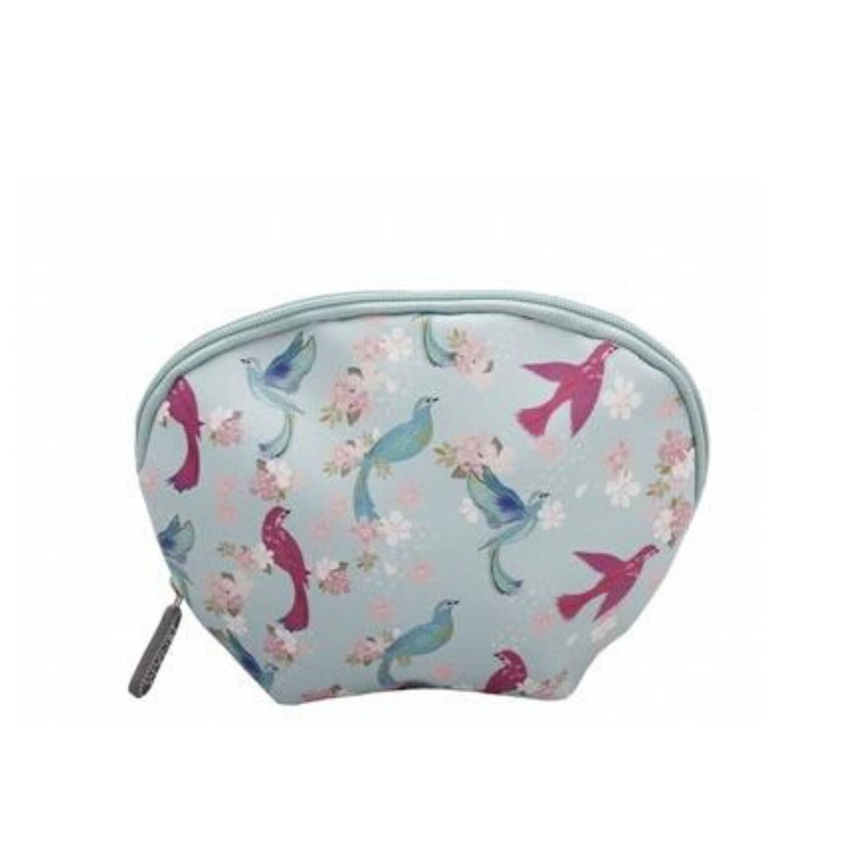 Exotic Bird Print Oval Make-Up Pouch