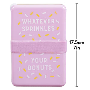 """Whatever Sprinkles Your Donuts"" Lunchbox"