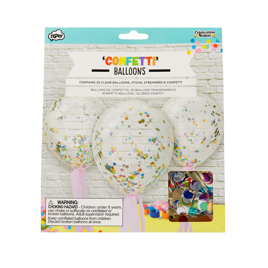 Confetti Balloons (20 pack)