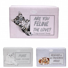 "Load image into Gallery viewer, ""Paws For Thought"" Cat Lovers' Fragranced Soap"