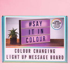 Colour-Changing Light-Up Message Board