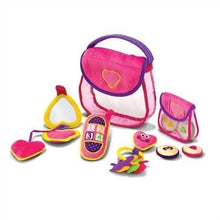 "Load image into Gallery viewer, Melissa & Doug ""Fill & Spill"" Plush Pretty Purse"