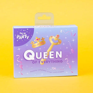 """Queen of Everything"" Inflatable Crown Set"