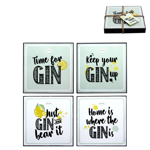 Happy Hour Gin Coaster Set