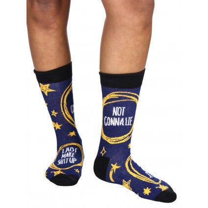 """Not Gonna Lie... I Just Make Sh*t Up"" Socks"