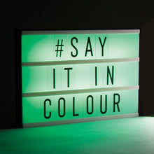 Load image into Gallery viewer, Colour-Changing Light-Up Message Board