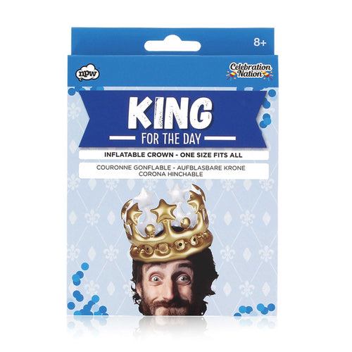 King for the Day Inflatable Party Hat
