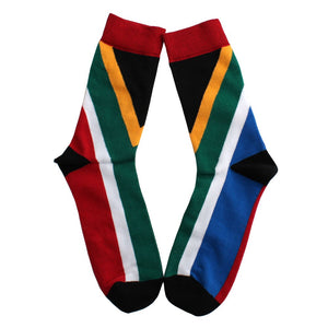 SA Flag Print Socks